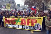 Marcha contra el sistema privado de pensiones AFPs congrega más de un millón de personas en Chile