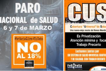 ARGENTINA-PARO NACIONAL DE SALUD Y CAMPAÑA NO A LA CUS