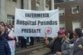 Ahora: furia de los enfermeros del Posadas porque les descontaron el 80 por ciento de los salarios por el conflicto de extensión de horario