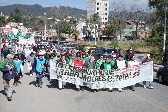 JUJUY | La Intersindical se movilizó por paritarias sin techo