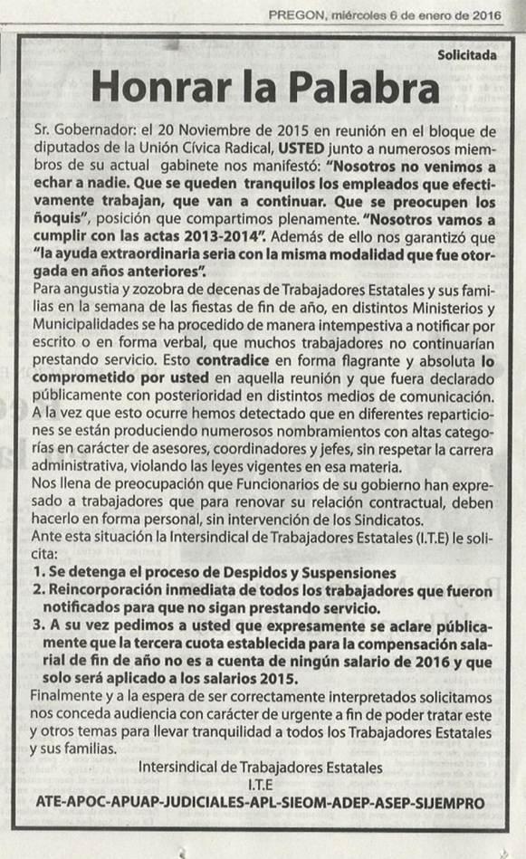 SOLICITADA DE APUAP CON LA INTERSINDICAL DE JUJUY