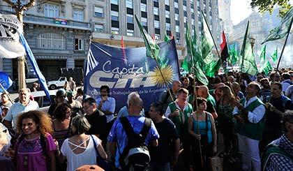 La CTA movilizó a Plaza de Mayo por la liberación de Milagro Sala