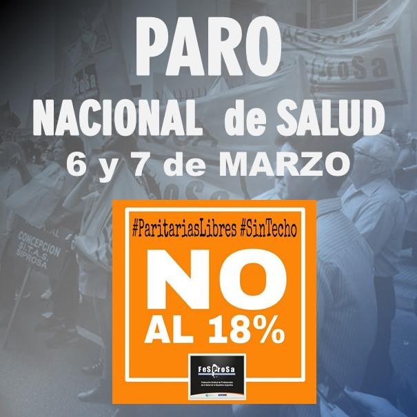 PARO NACIONAL DE SALUD 6 y 7 de MARZO