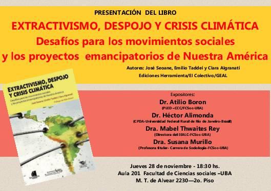 Extractivismo, despojo, y crisis climática