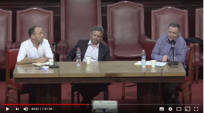 CUS-Polemica entre Jorge Yabkowski Pte de Fesprosa y el Ministro de Salud Dr Adolfo Rubinstein