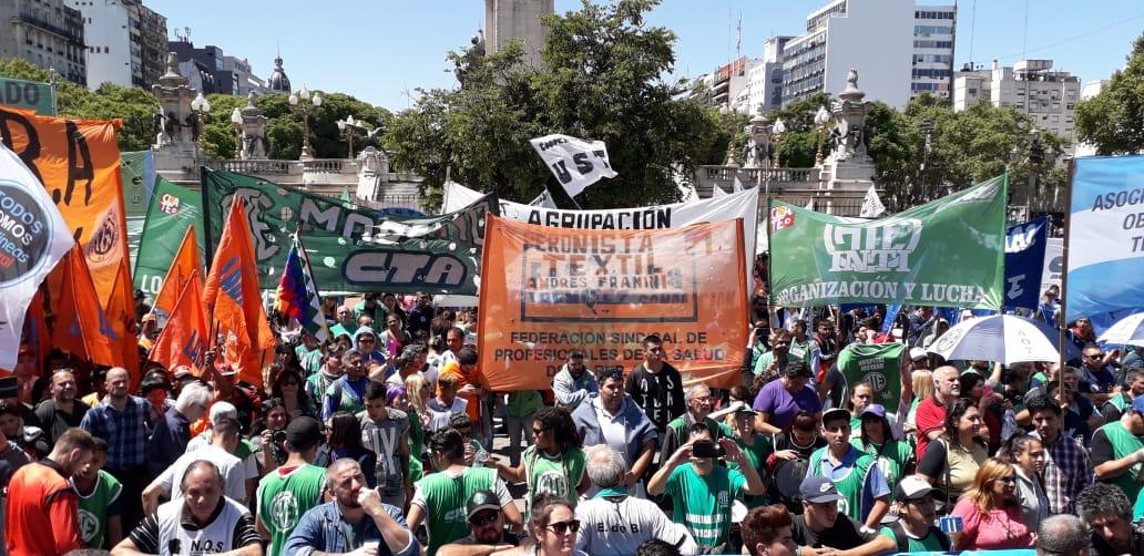 FESPROSA en la multitudinaria movilización al Congreso de la Nación