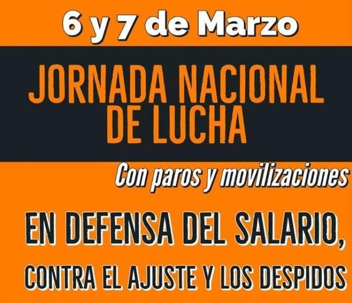 Jornada Nacional de Lucha -  6 y 7 de Marzo