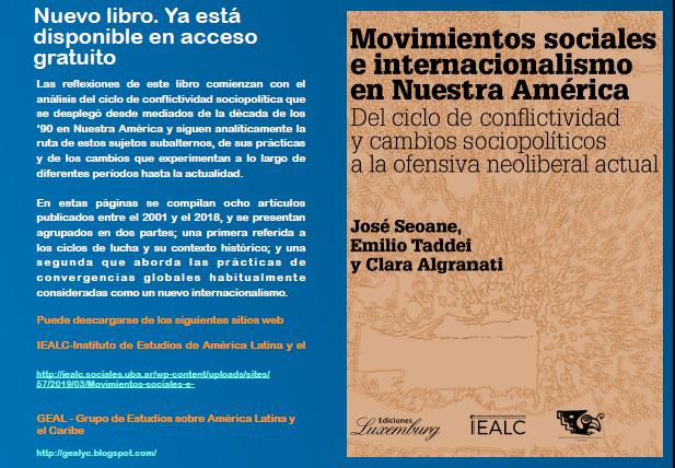 Nuevo libro en acceso gratuito Movimientos sociales e internacionalismo