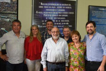 Reunión de la multisectorial con el diputado Máximo Kirchner realizada el martes 12 de noviembre en el congreso nacional