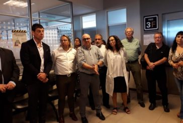 Dirigentes FeSProSa presentes en la asunción del nuevo director del Hospital Posadas