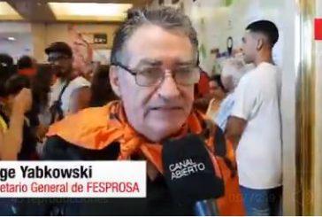 Twitter:  sostuvo Jorge Yabkowski, secretario general del Fesprosa