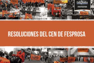 RESOLUCIONES DEL CEN DE FESPROSA DEL 15 DE ABRIL