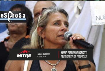 Radio Mitre: entrevista a María Fernanda Boriotti Presidenta de FESPROSA