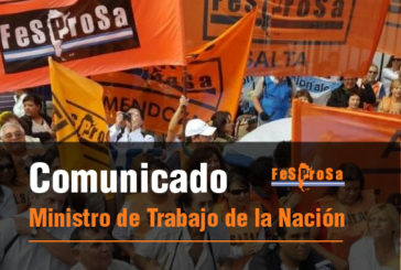 Comunicado al Ministerio de Trabajo de la Nación