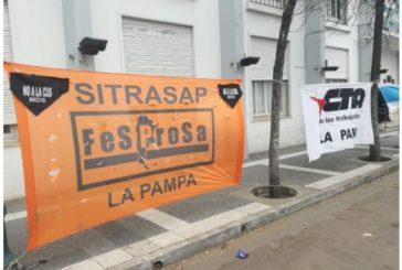 Sitrasap Fesprosa La Pampa rechaza el acuerdo para instrumentar la Cus en la provincia.