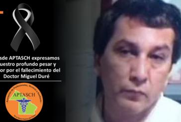 FESPROSA-APTASCH expresa su profundo pesar por el fallecimiento del Dr. Duré