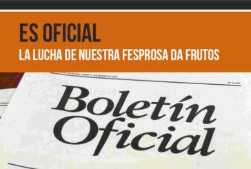 Es oficial!  La lucha de nuestra  FESPROSA da frutos