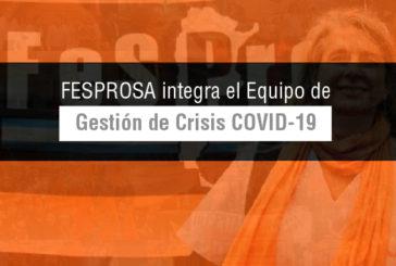 Fesprosa integra el Equipo de Gestión de Crisis COVID-19