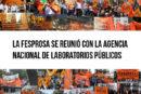 La FeSProSa se reunió con la Agencia Nacional de Laboratorios Públicos