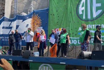 Acto frente al Congreso de la Nación