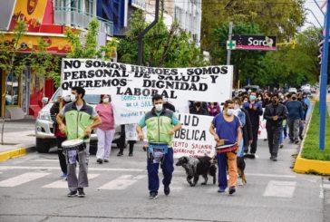 Río Negro: Movilización de trabajadores de salud nucleados en Fesprosa