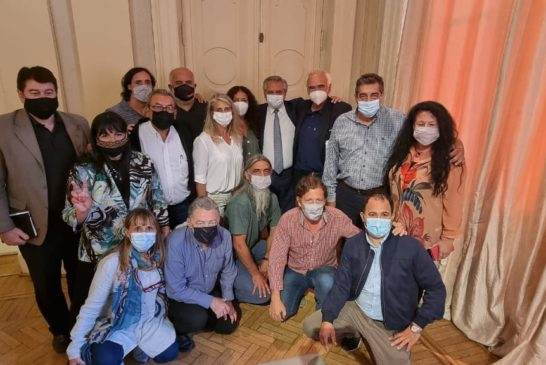 Fuerte planteo de Boriotti por la paritaria de Salud en la reunión de la CTA Autónoma con el presidente de la Nación